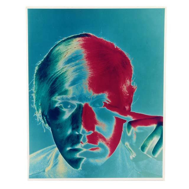 After Philippe Halsman Original Chromogenic Photograph of Andy Warhol