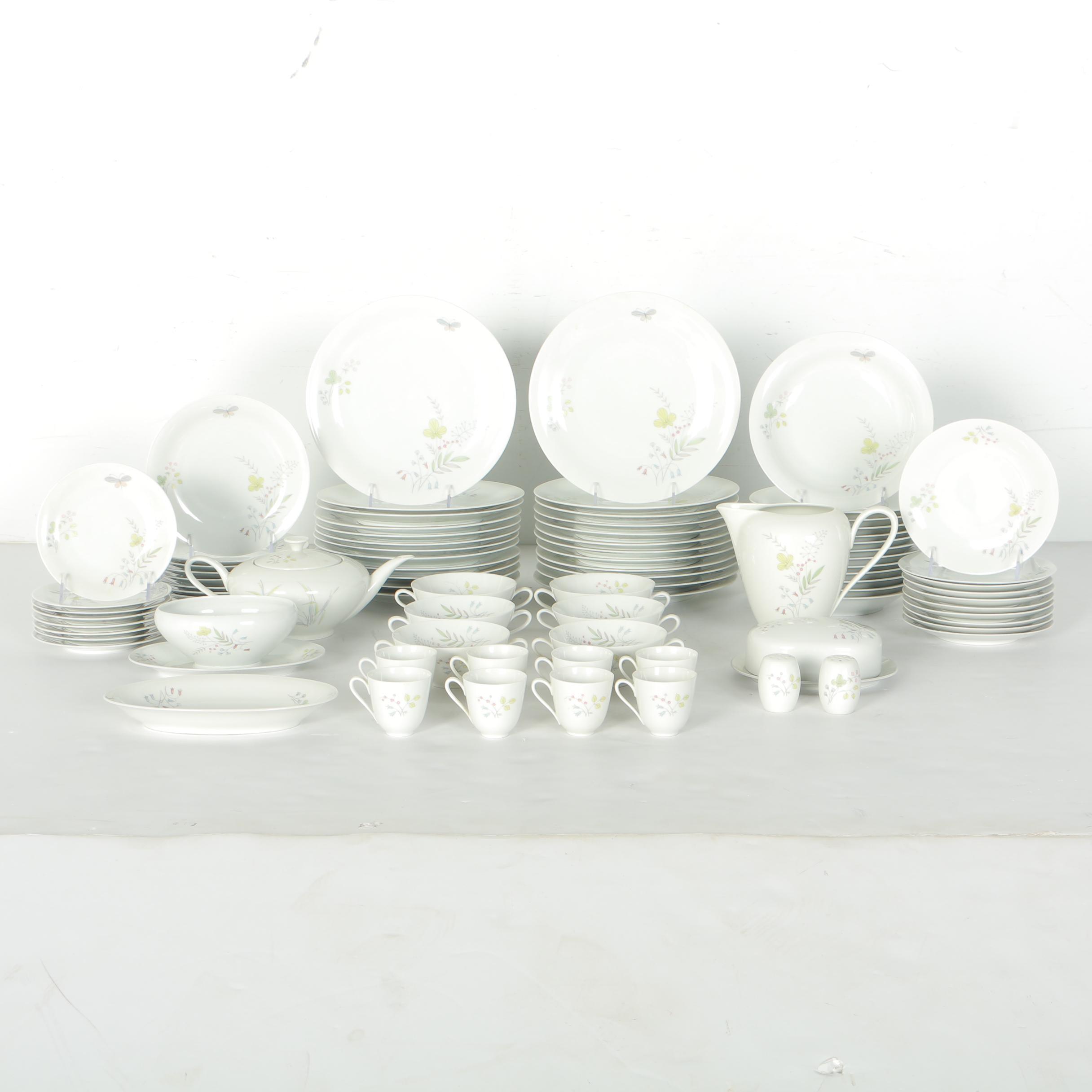 Large Set of Tirschenreuth Porcelain Tableware
