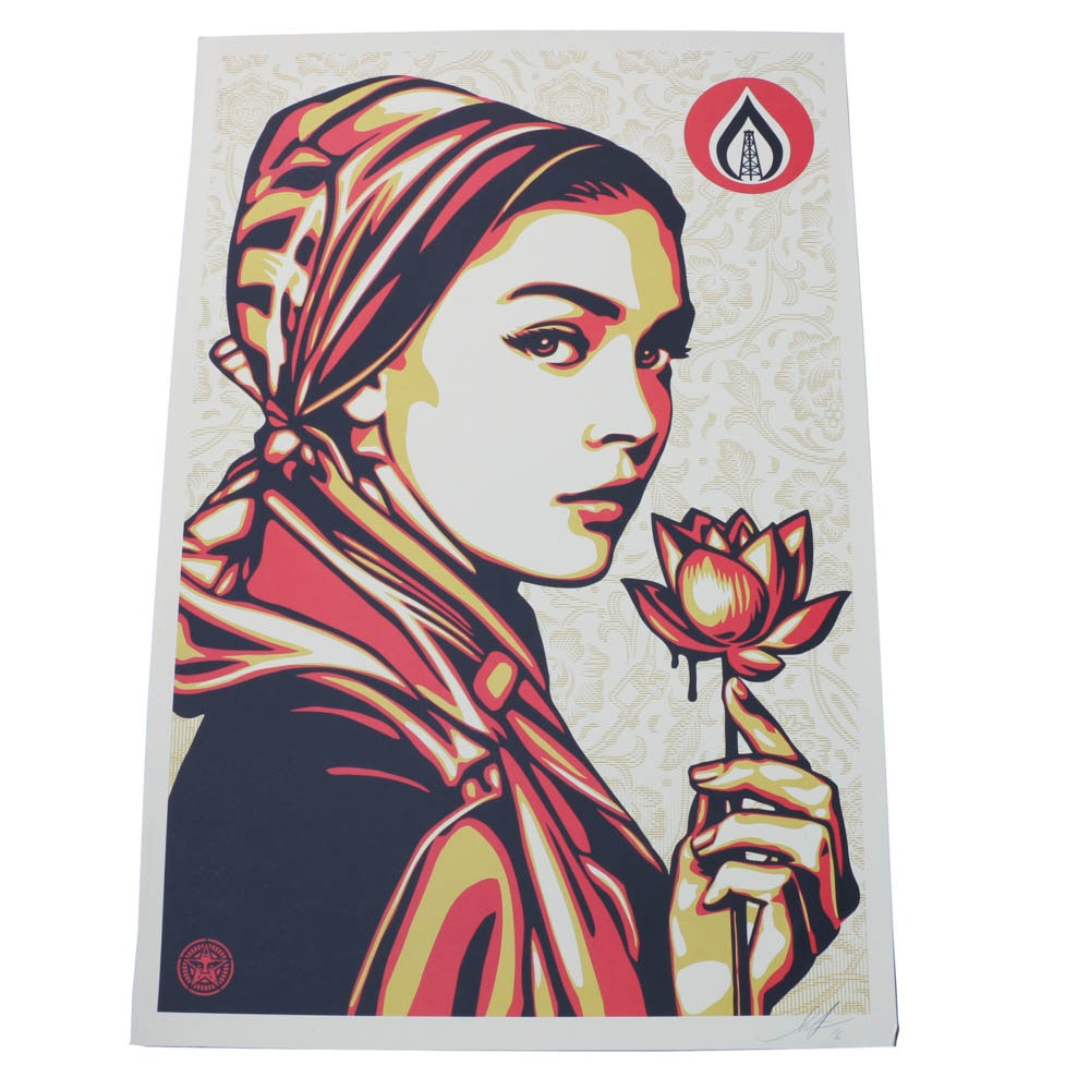 "Shepard Fairey Signed 2016 Giclée ""Natural Springs"""