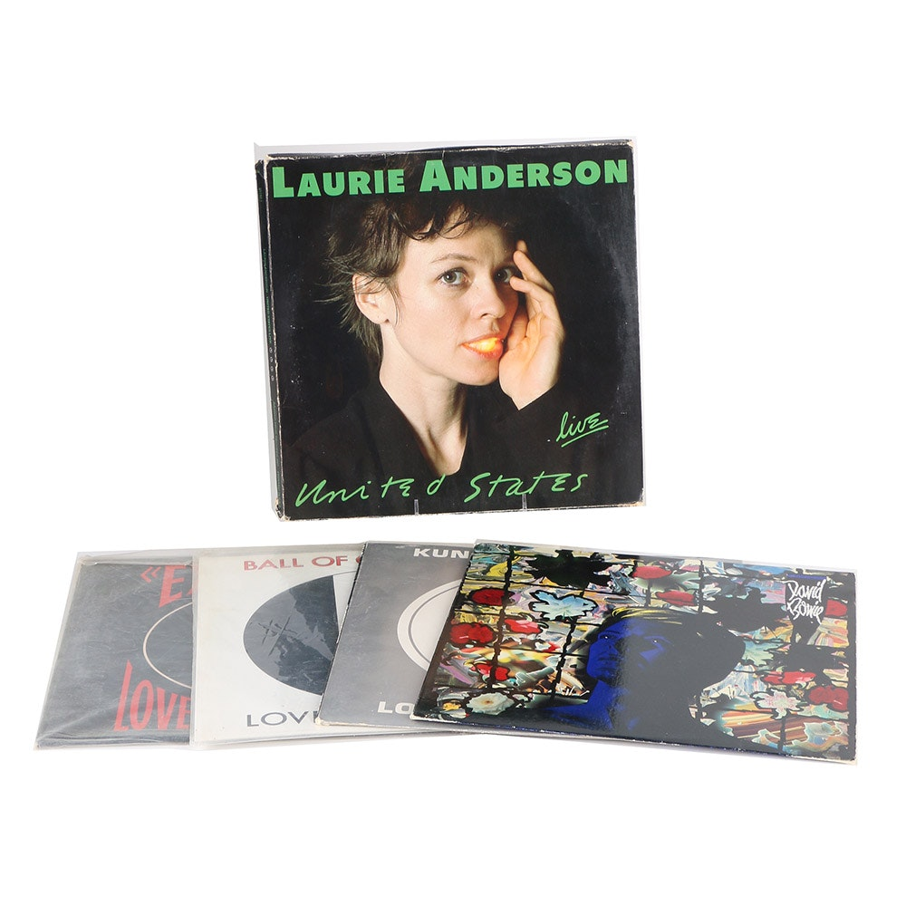 David Bowie, Love and Rockets, Laurie Anderson Records