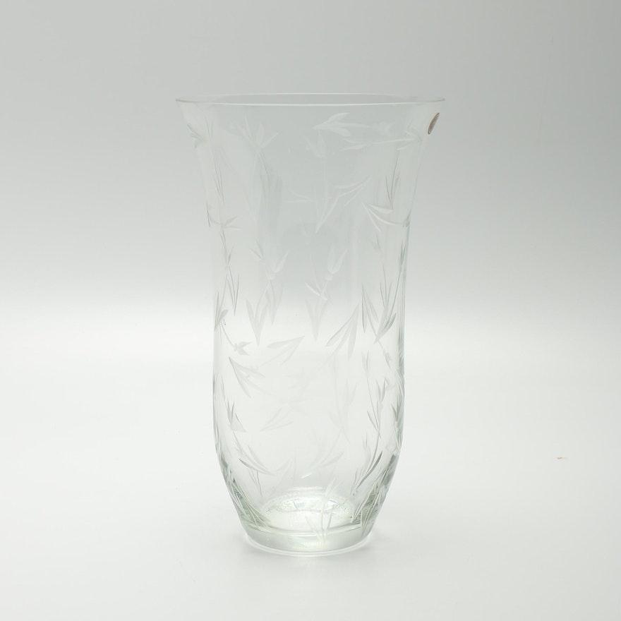 Gorham Crystal Vase Ebth