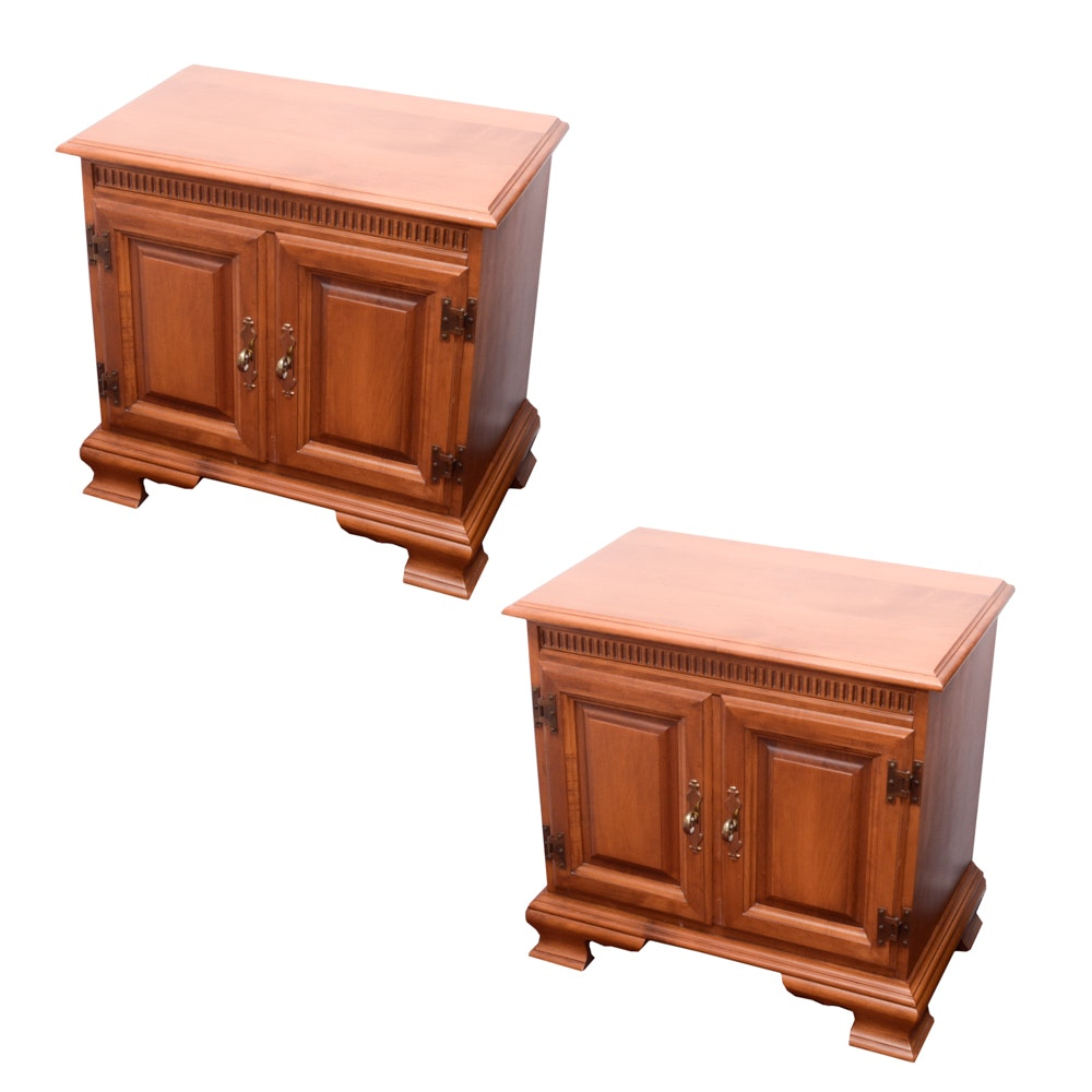 Pair of Wooden Nighstands