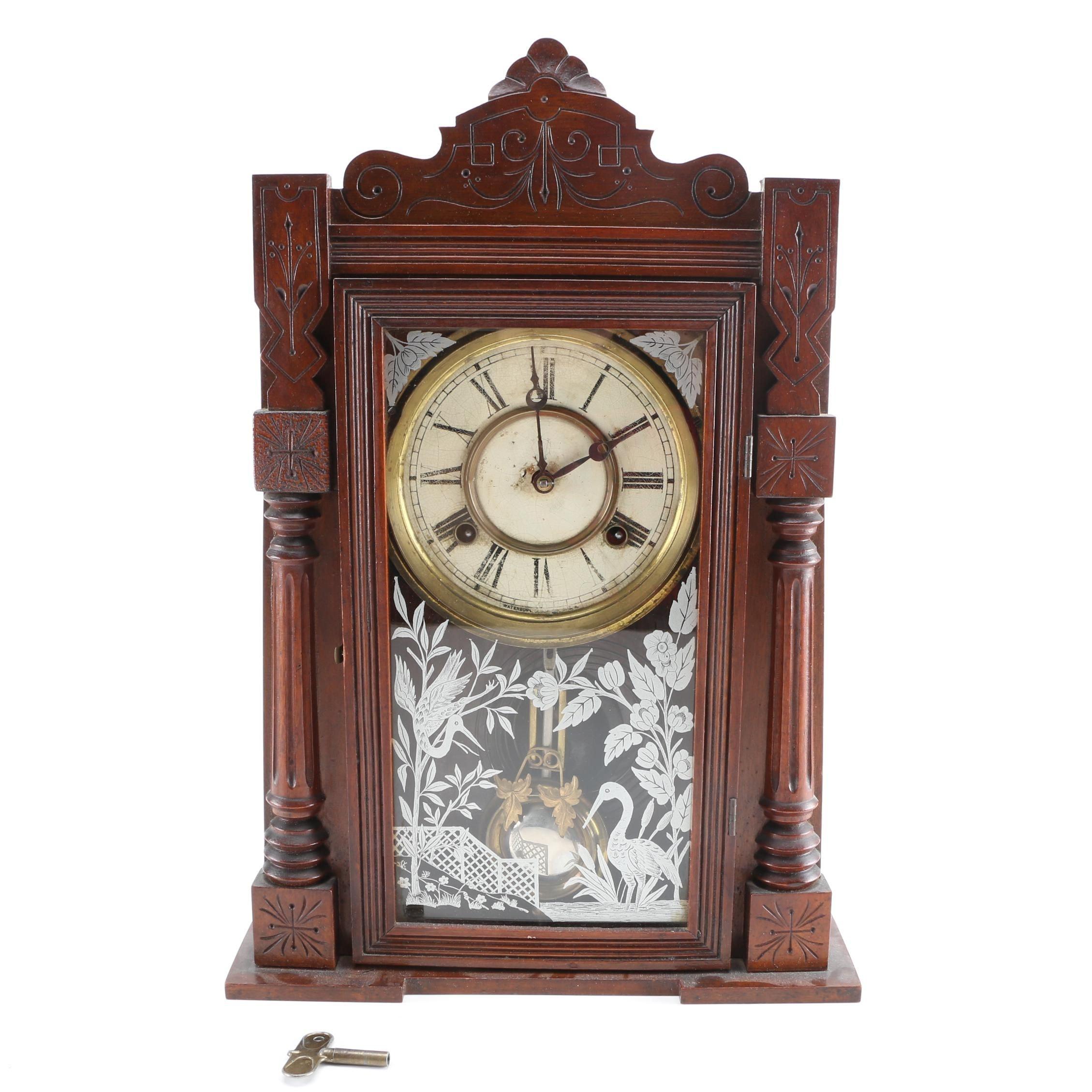 Antique Wm L. Gilbert Clock Co. Mantel Clock