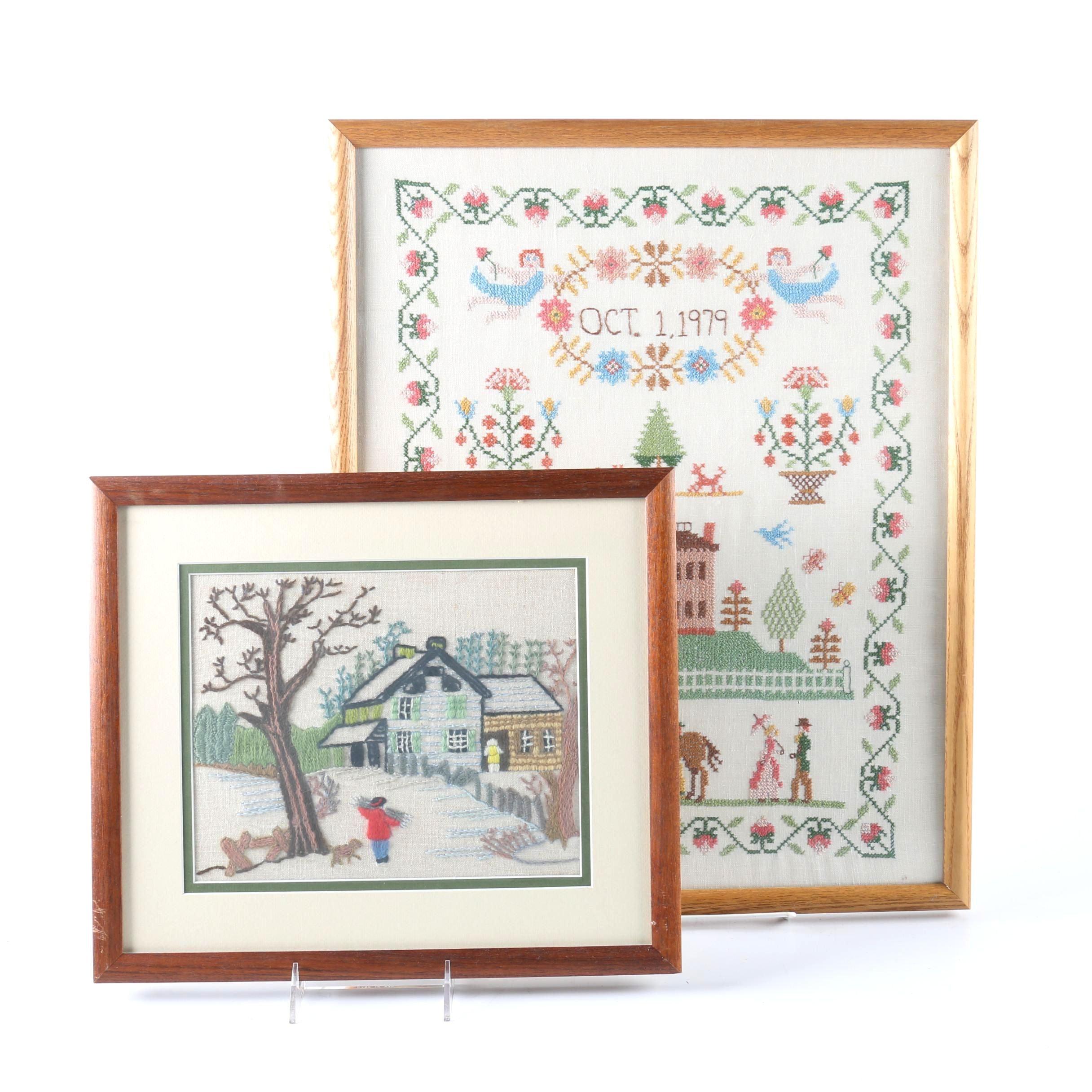 Framed Textile Scenes