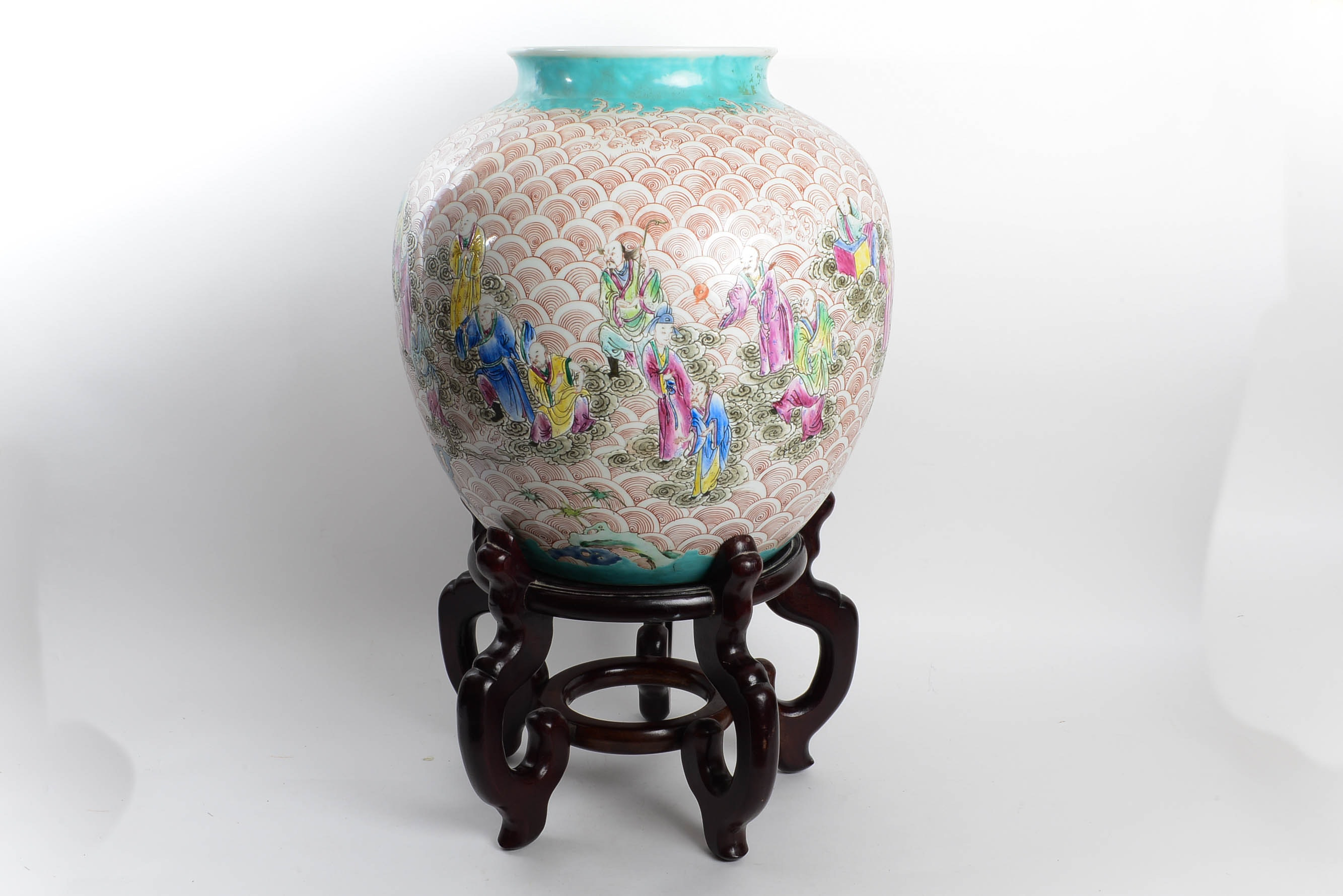 Antique Chinese Jiaqing Mark and Period Famille Rose Vase