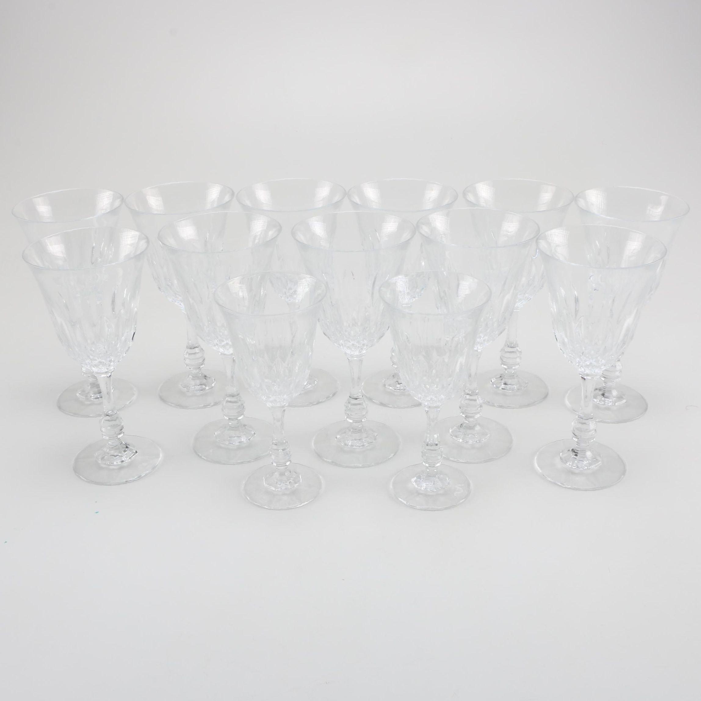 Assortment of Crystal Stemware