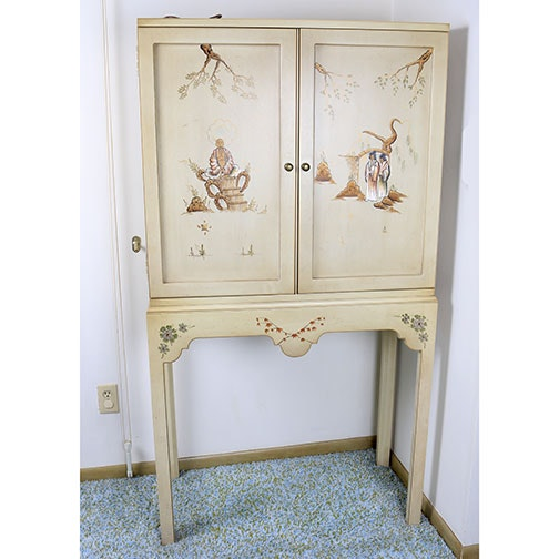 Asian Inspired Hand Painted Cabinet By Jasper Cabinet ...