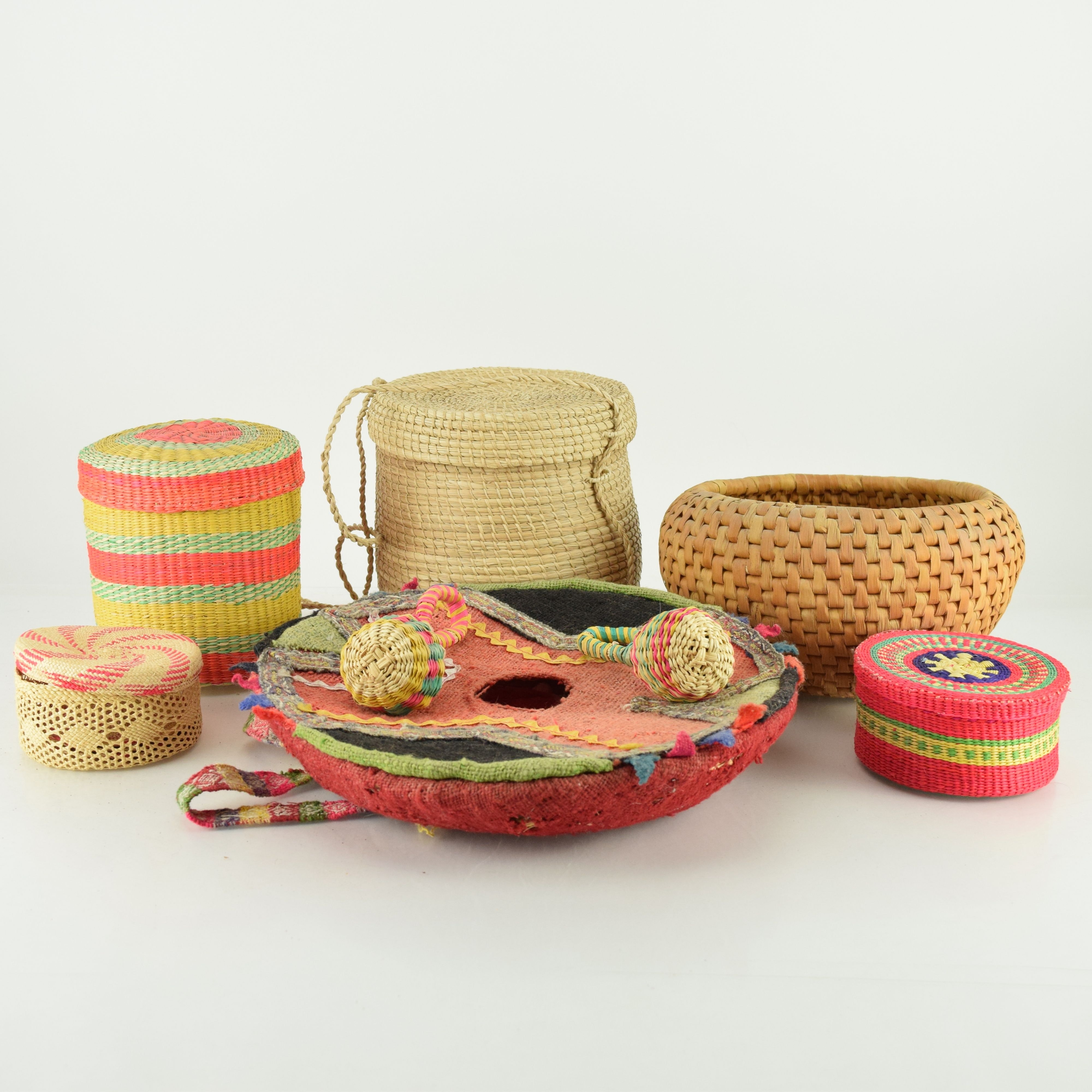 South American Baskets, Textiles and Other Decor
