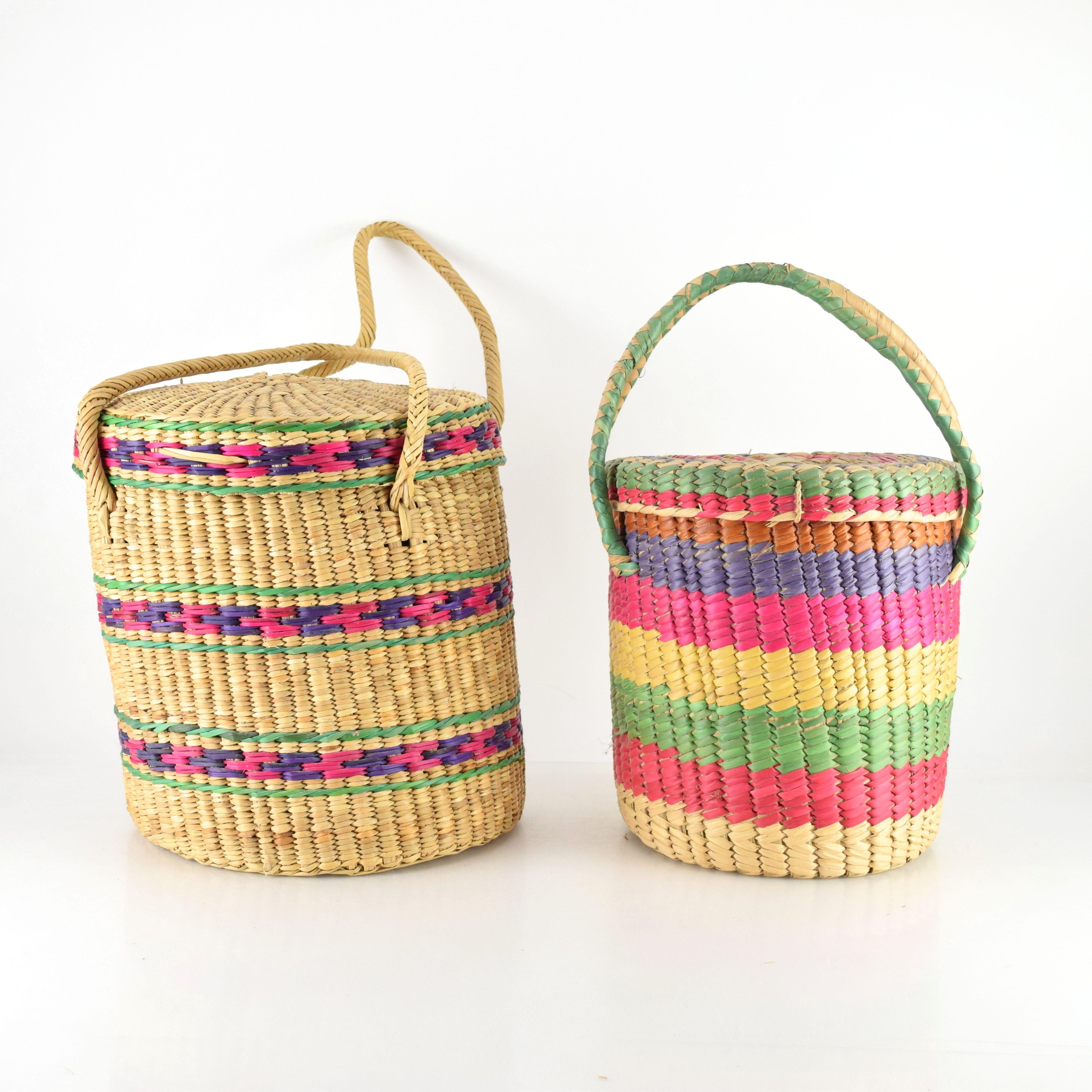 Round Ecuadorian Baskets