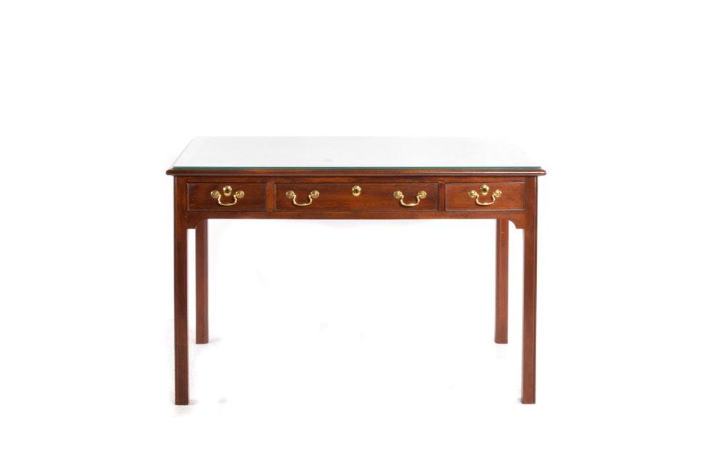 Handcrafted Three Drawer Desk by Peter Machinis