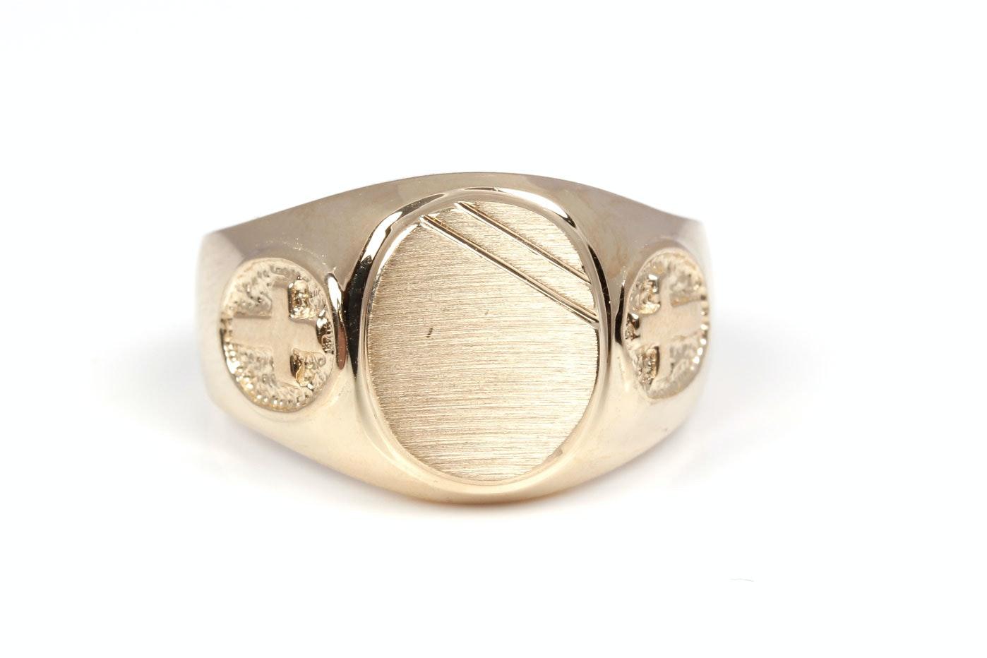 14K Yellow Gold Insignia Ring