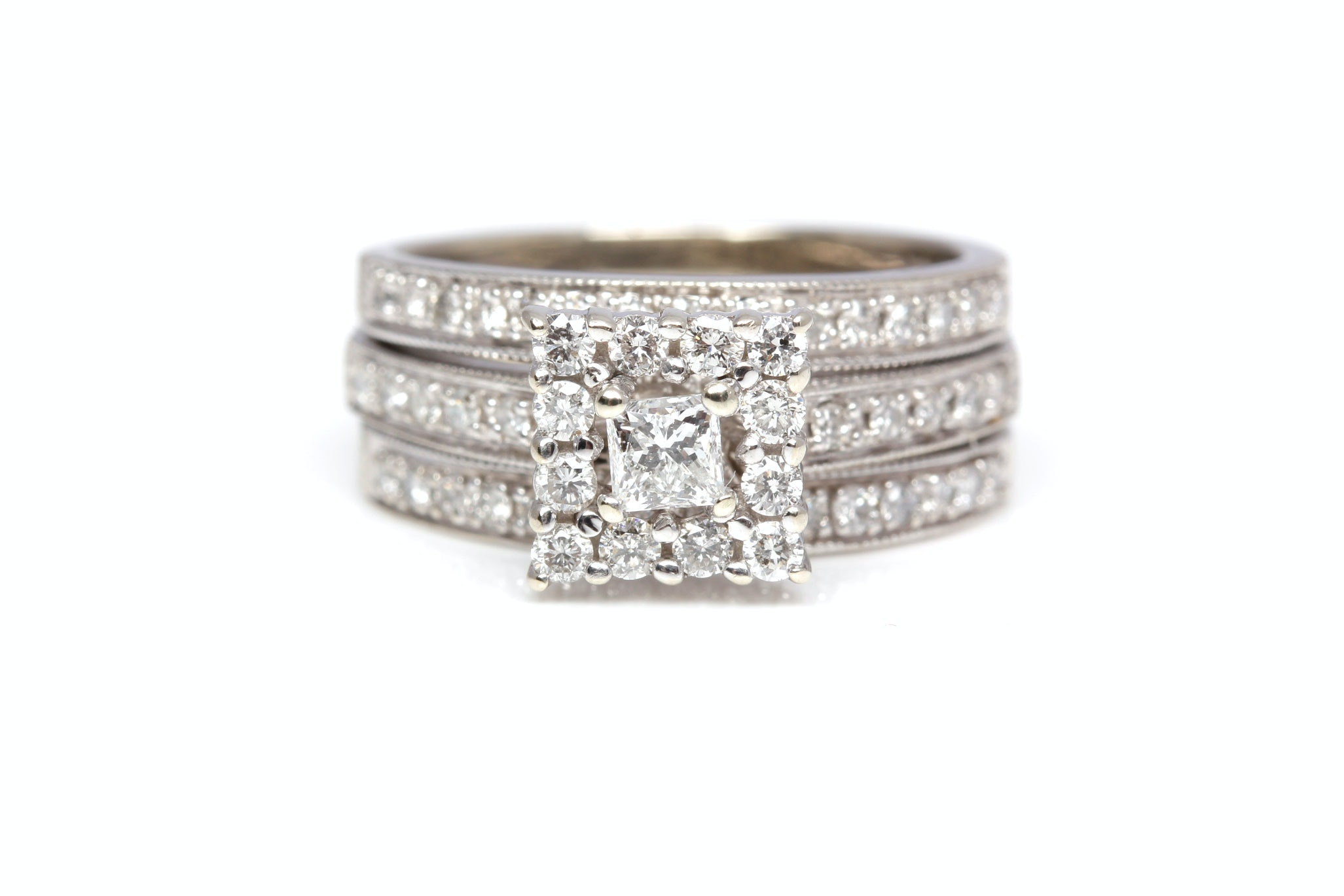14K White Gold 1.00 CTW Diamond Ring