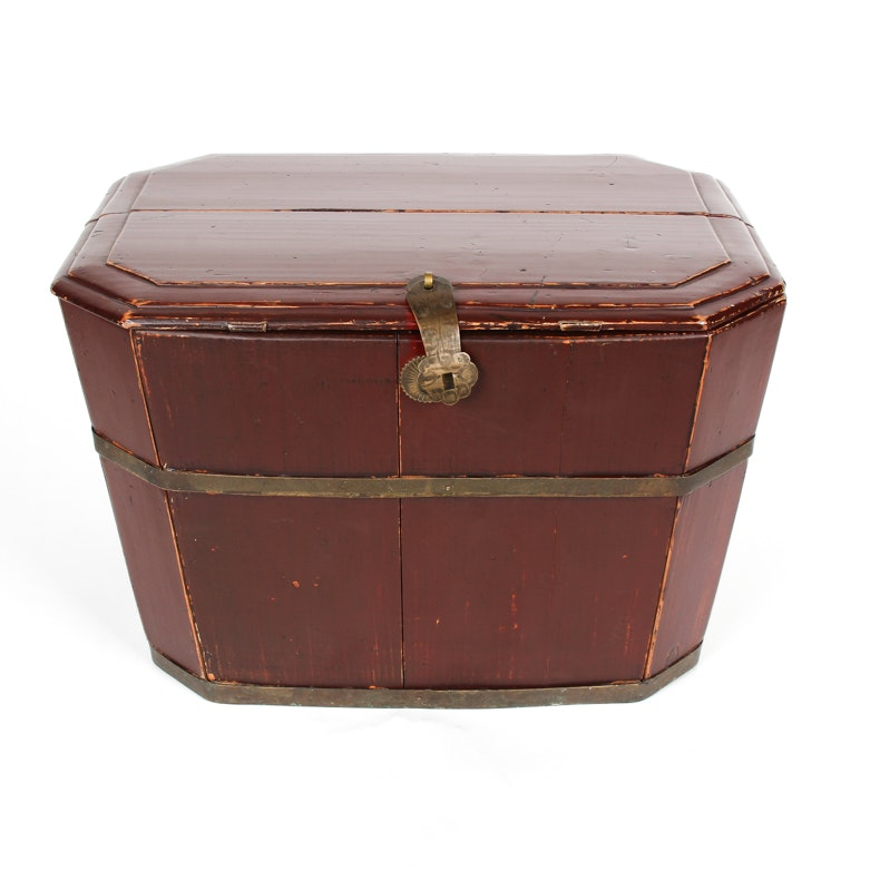 Red Wooden Trunk