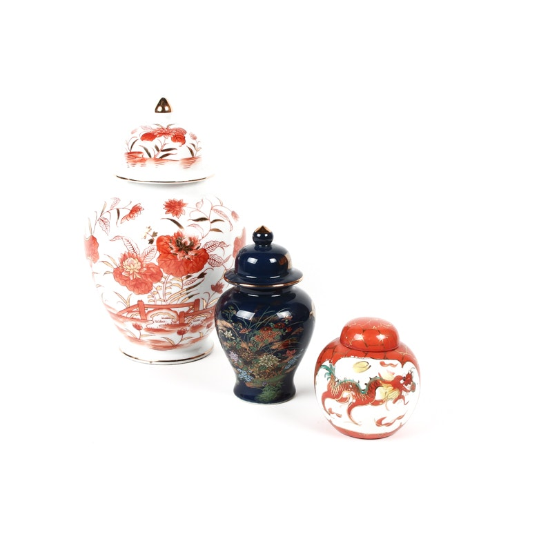 Assortment of East Asian Ginger Jars