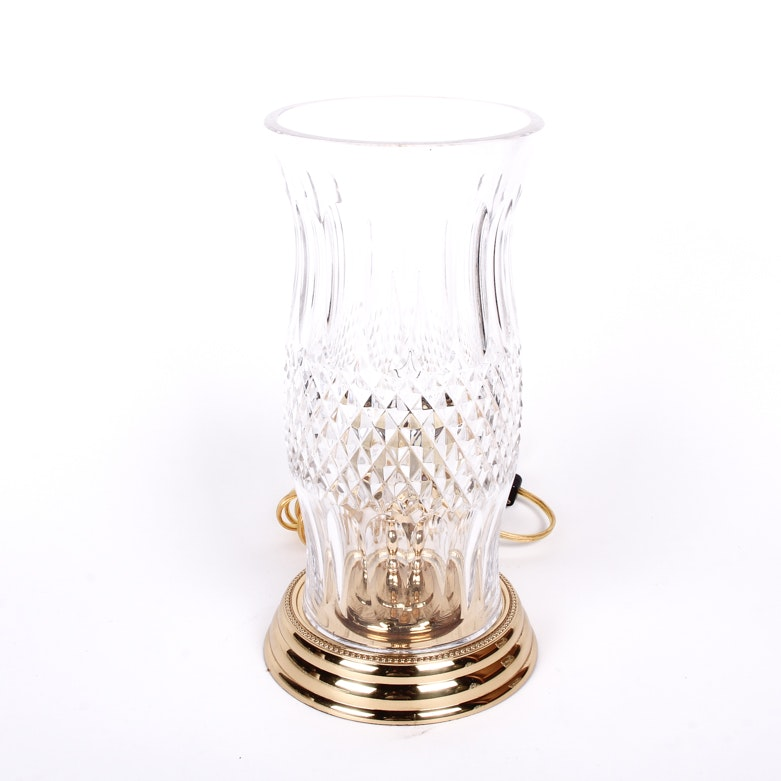"""Waterford Crystal """"Colleen"""" Hurricane Electric Lamp"""