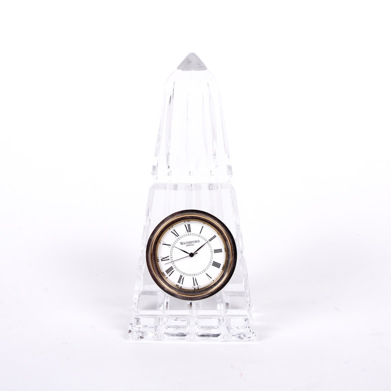 Waterford Crystal Obelisk Clock