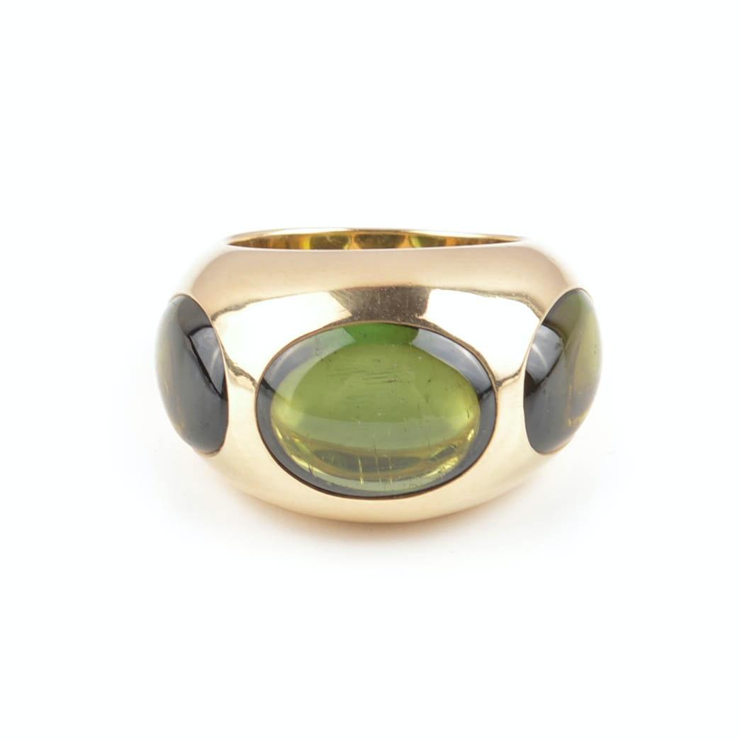 Pomellato 18K Yellow Gold Green Tourmaline Ring