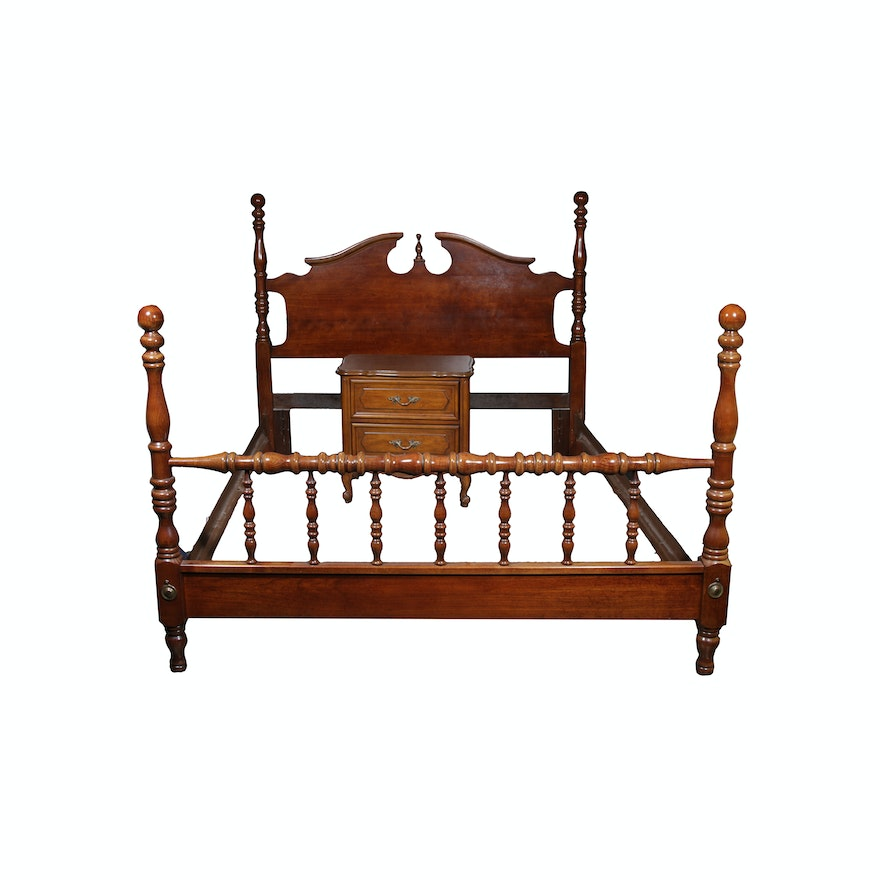 Chippendale Style Bed Frame by American Drew and Commode by Henry ...