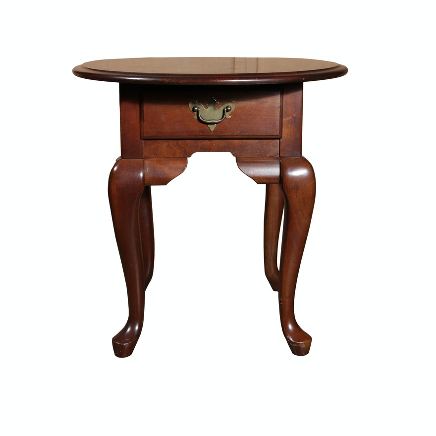 Queen Anne Style End Table By Broyhill