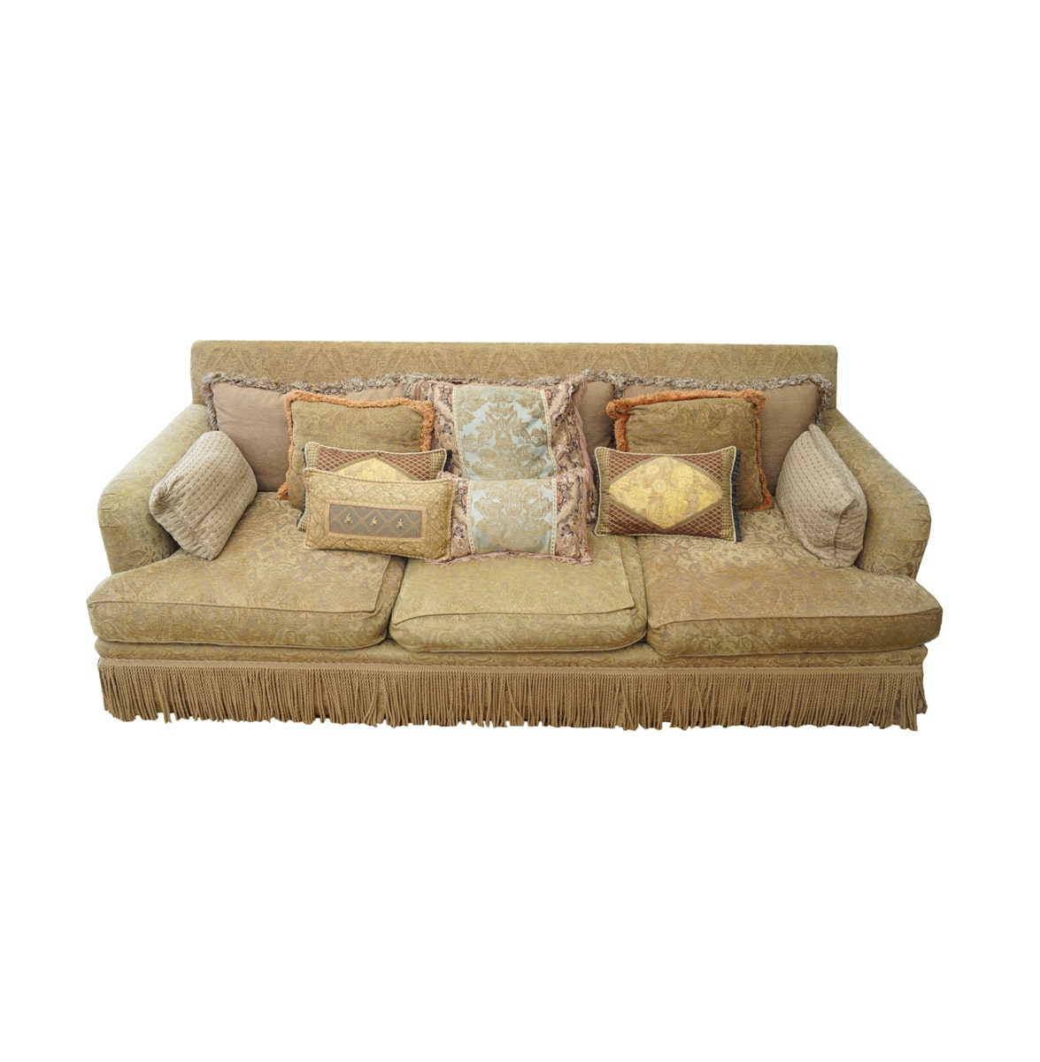 Isenhour Designer Chennille Sofa with Pillows