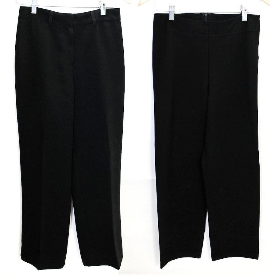 Black dress neiman marcus - Neiman Marcus And Charles Chan Lima Black Dress Pants
