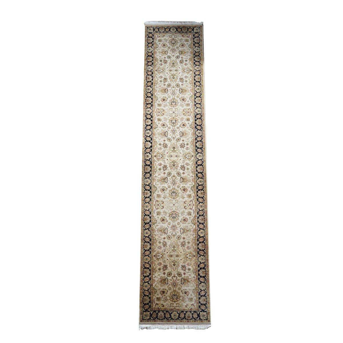 Arabesque Black and Tan Floral Runner