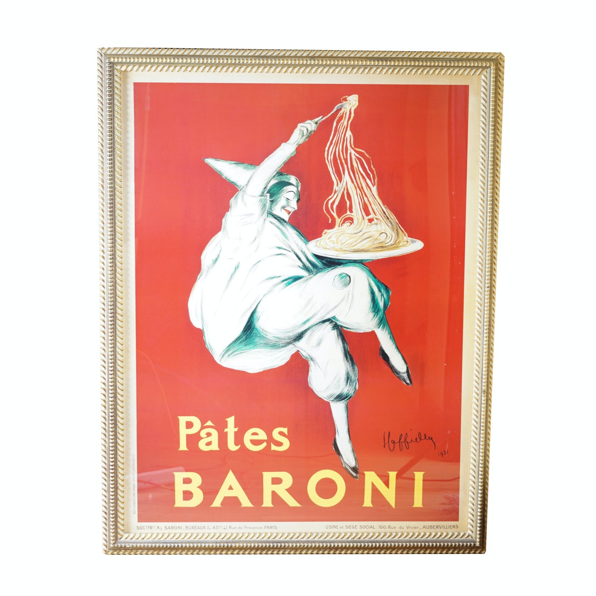 """""""Pâtes Baroni,"""" by Leonetto Cappiello Large Offset Lithograph"""