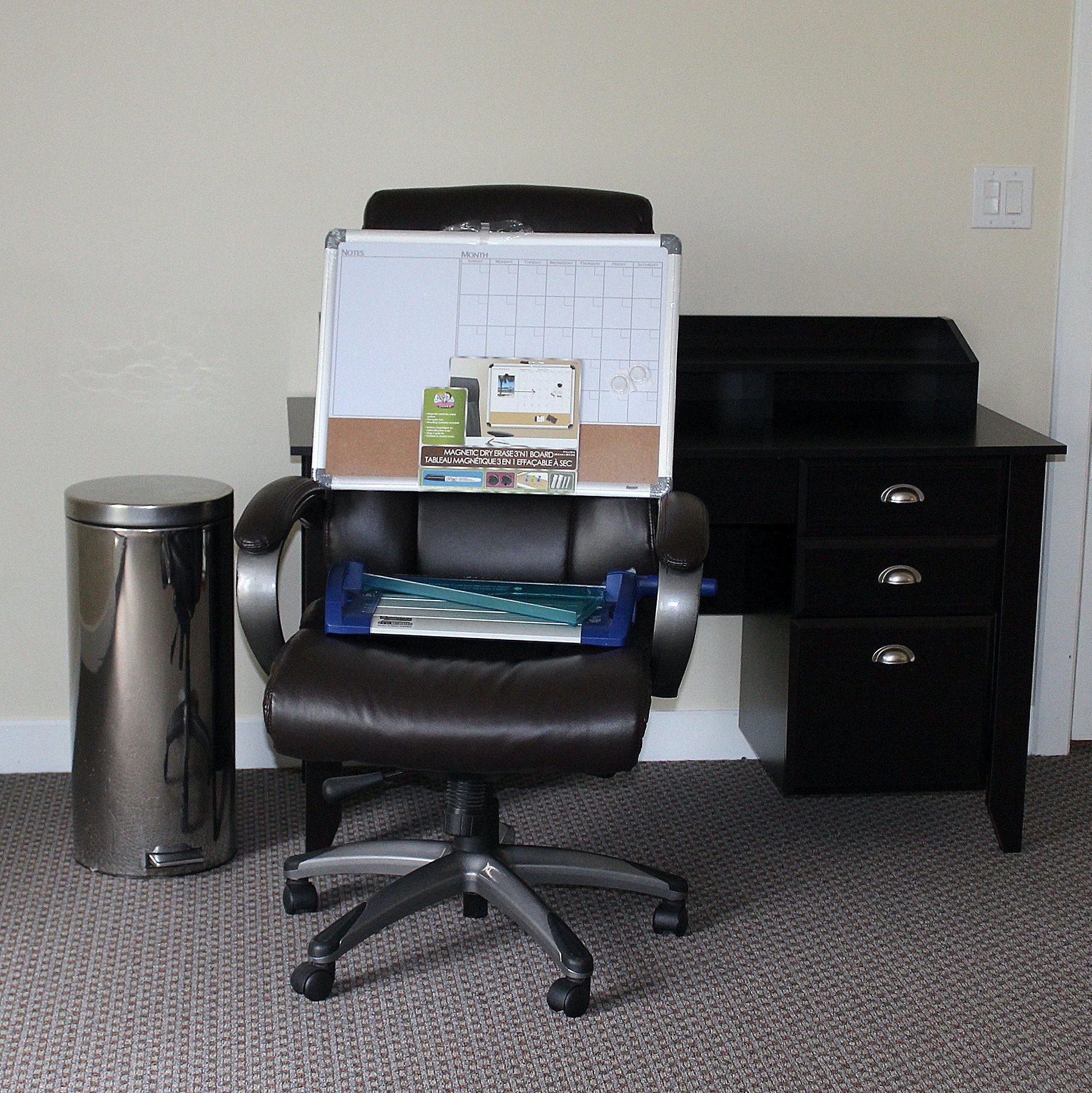 Desk, Chair, and Office Accessories