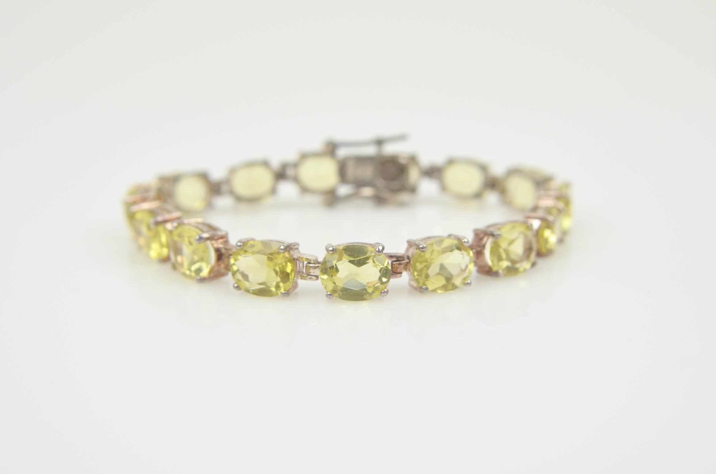 Sterling Silver Lemon Quartz Bracelet