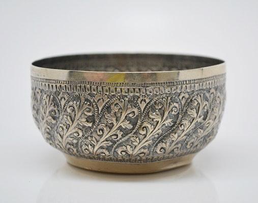 Vintage Indonesian 800 Silver Ceremonial Bowl