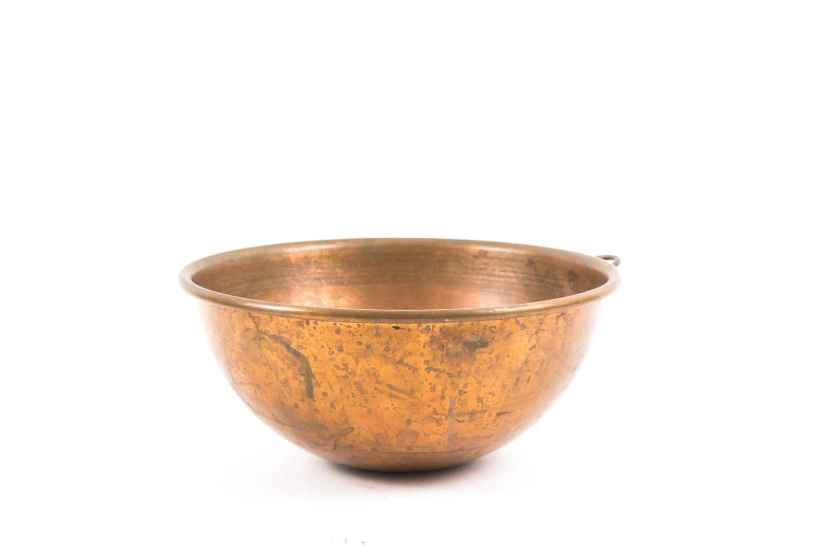 Vintage Copper Mixing Bowl
