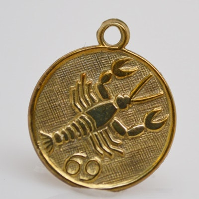 "9K Yellow Gold Zodiac ""Scorpio"" Charm/Pendant"