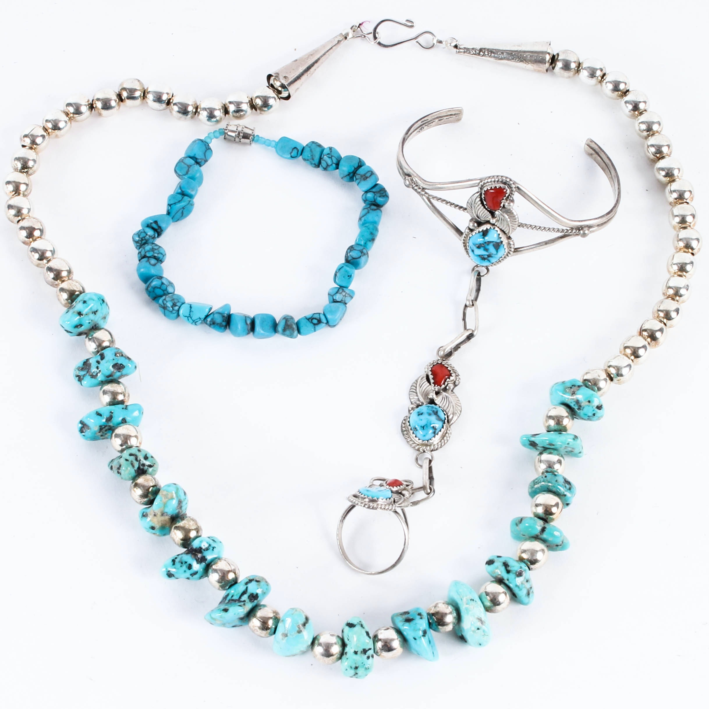 Assortment of Vintage Turquoise Jewelry