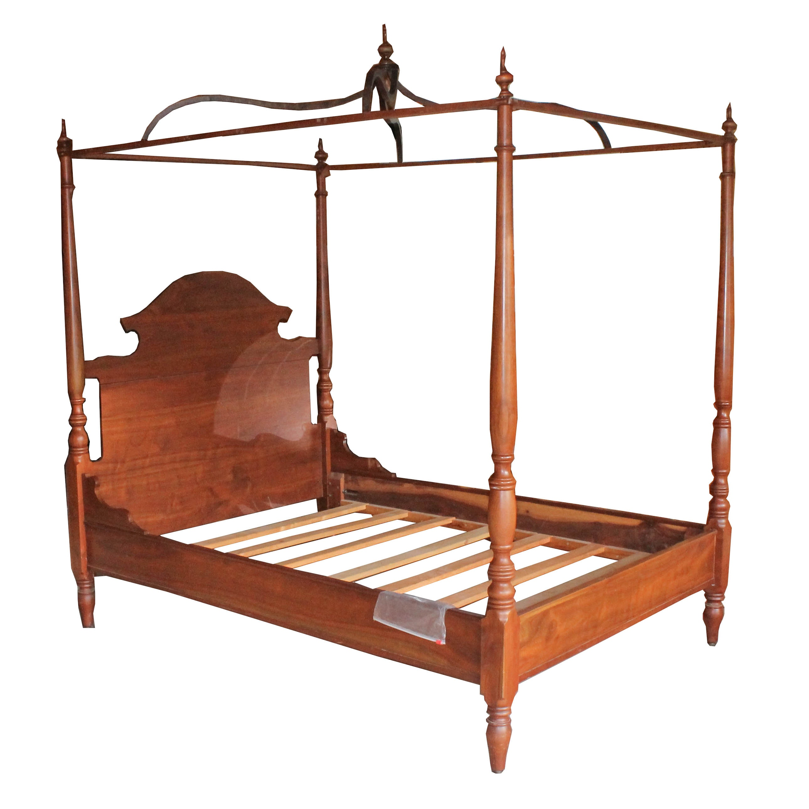 Custom-Made Four-Poster Canopy Bed