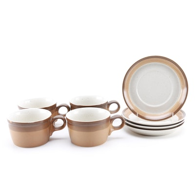 "Mikasa ""Buckskin"" Tea Cups and Saucers"