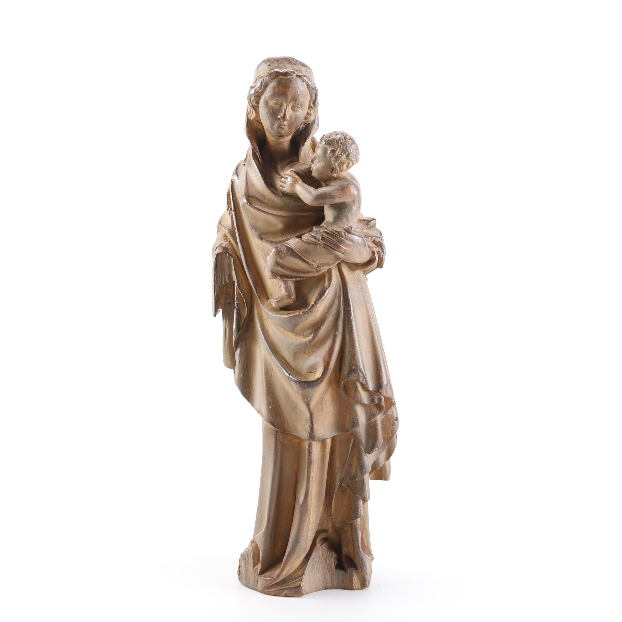 Louvre Museum Reproduction of Virgin and Child