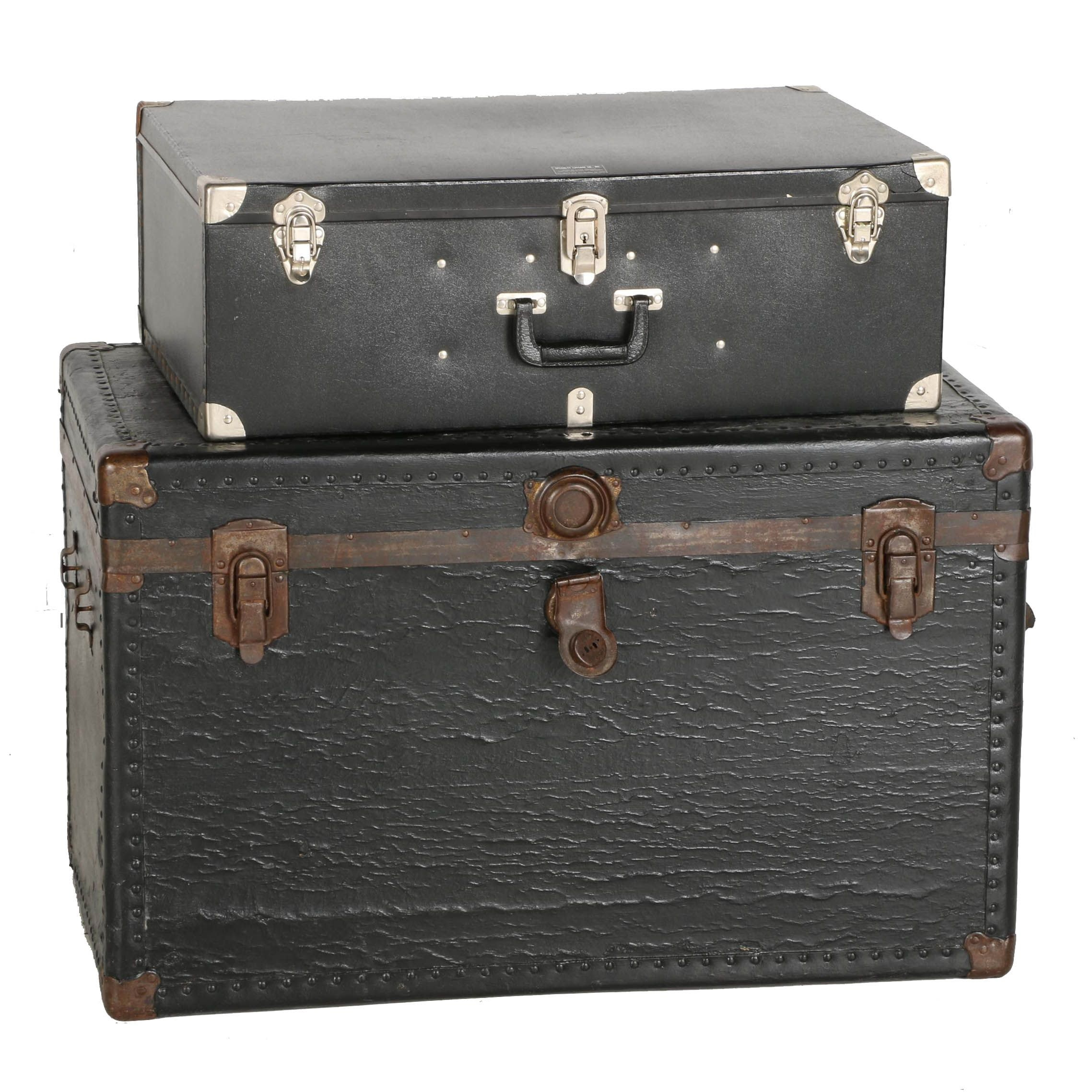 Vintage Wooden Storage Trunk and a Specialty Luggage Co. Trunk