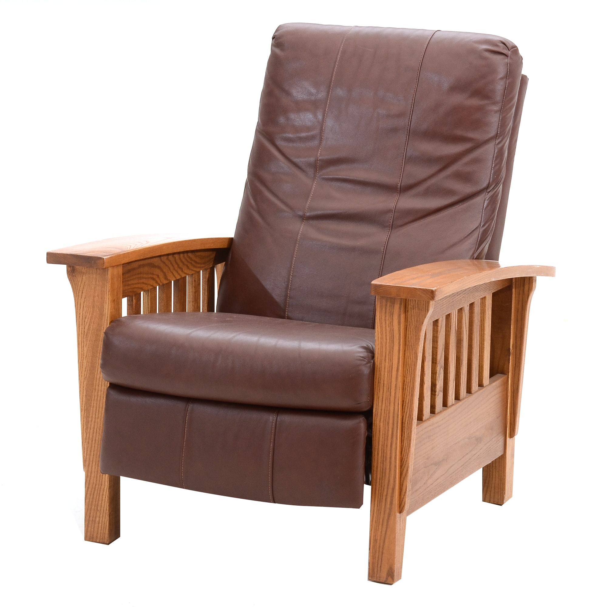 Barcalounger Leather Recliner  Morris  Chair ...  sc 1 st  EBTH.com & Barcalounger Leather Recliner