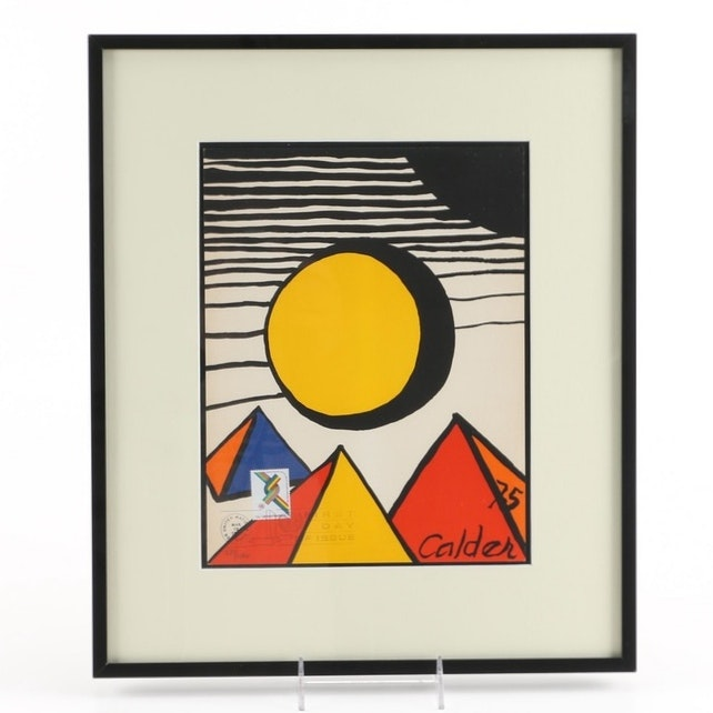 Alexander Calder Limited Edition Lithograph for WFUNA Anniversary
