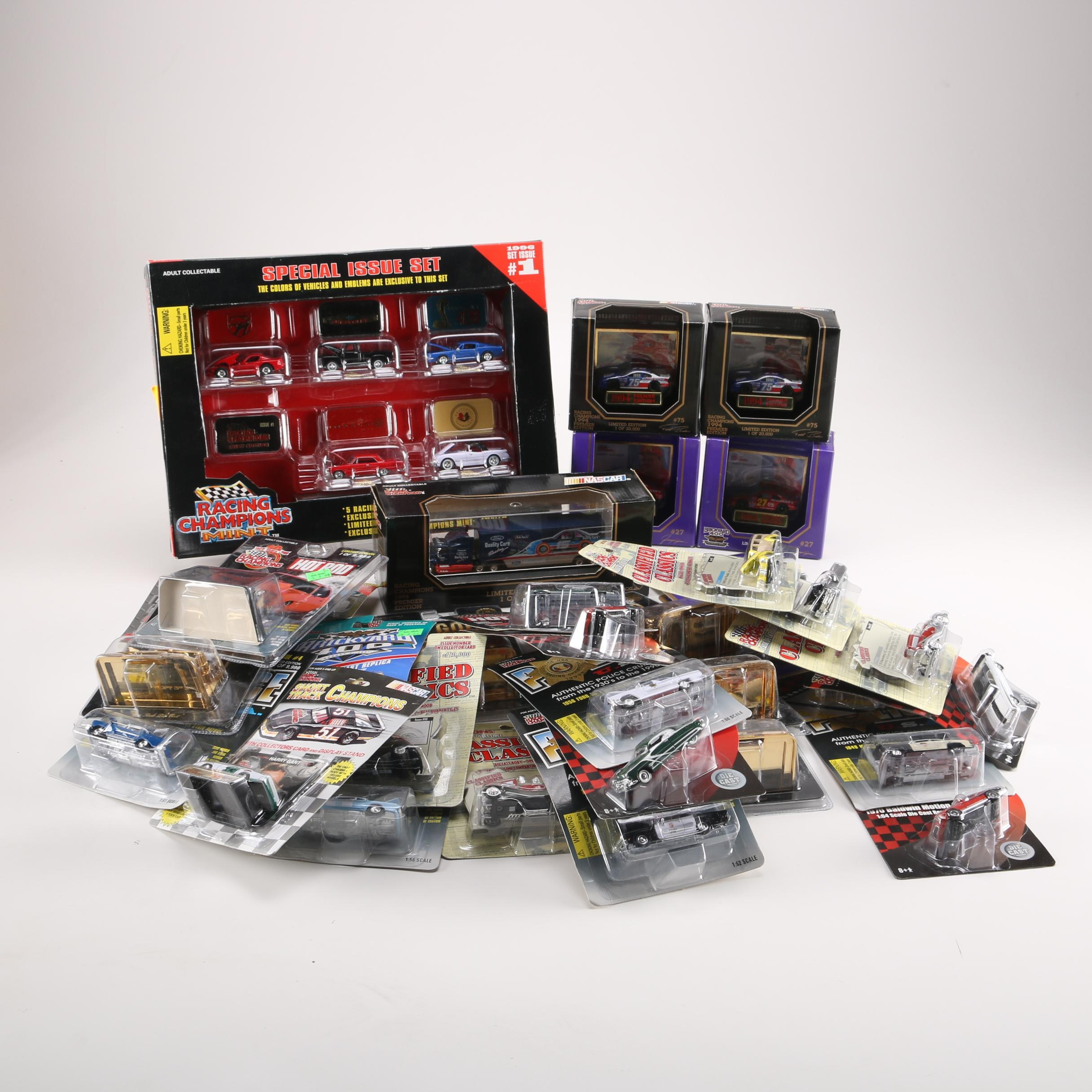 Assortment of Die-Cast Cars by Racing Champions