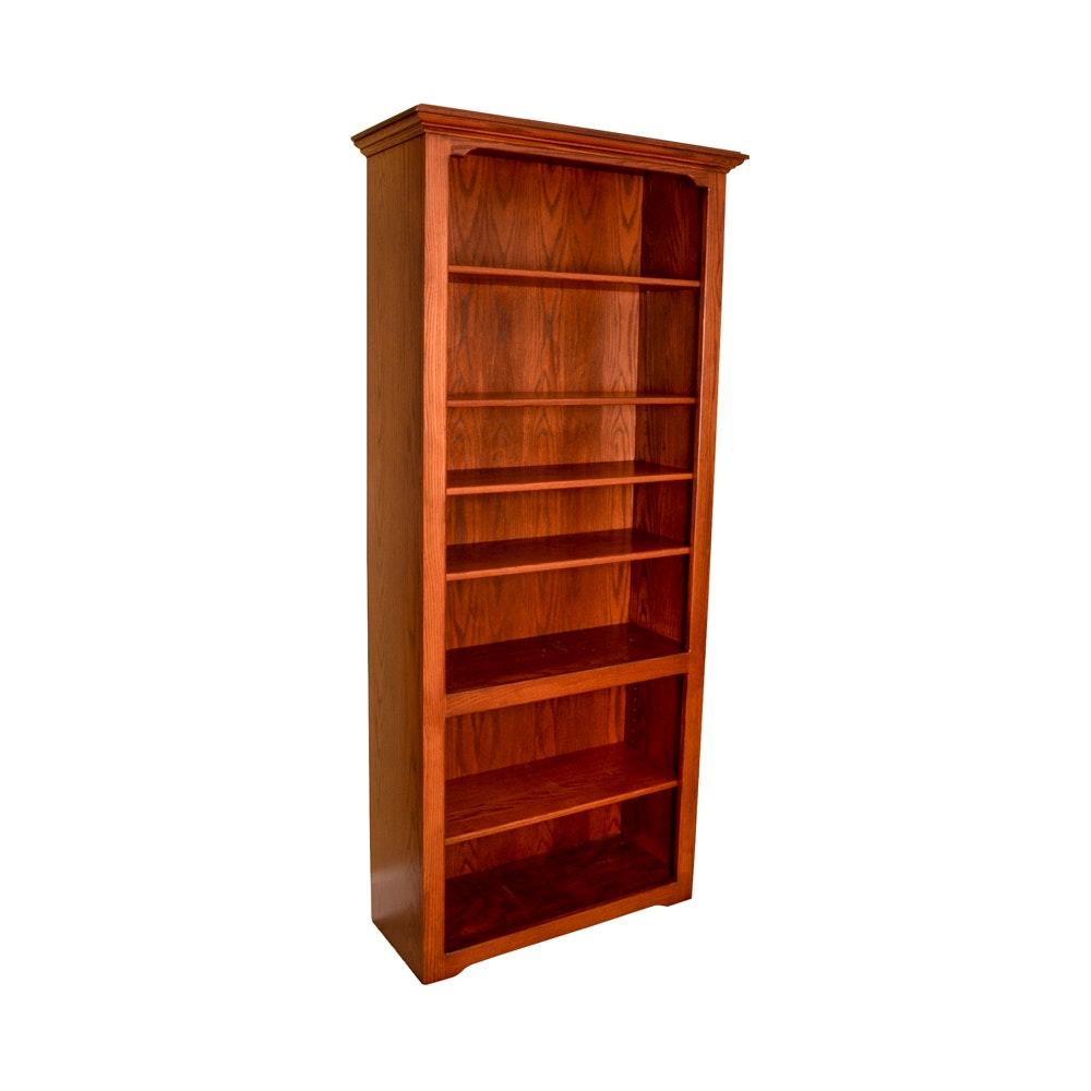 Oak Bookcase With Adjustable Shelves ...