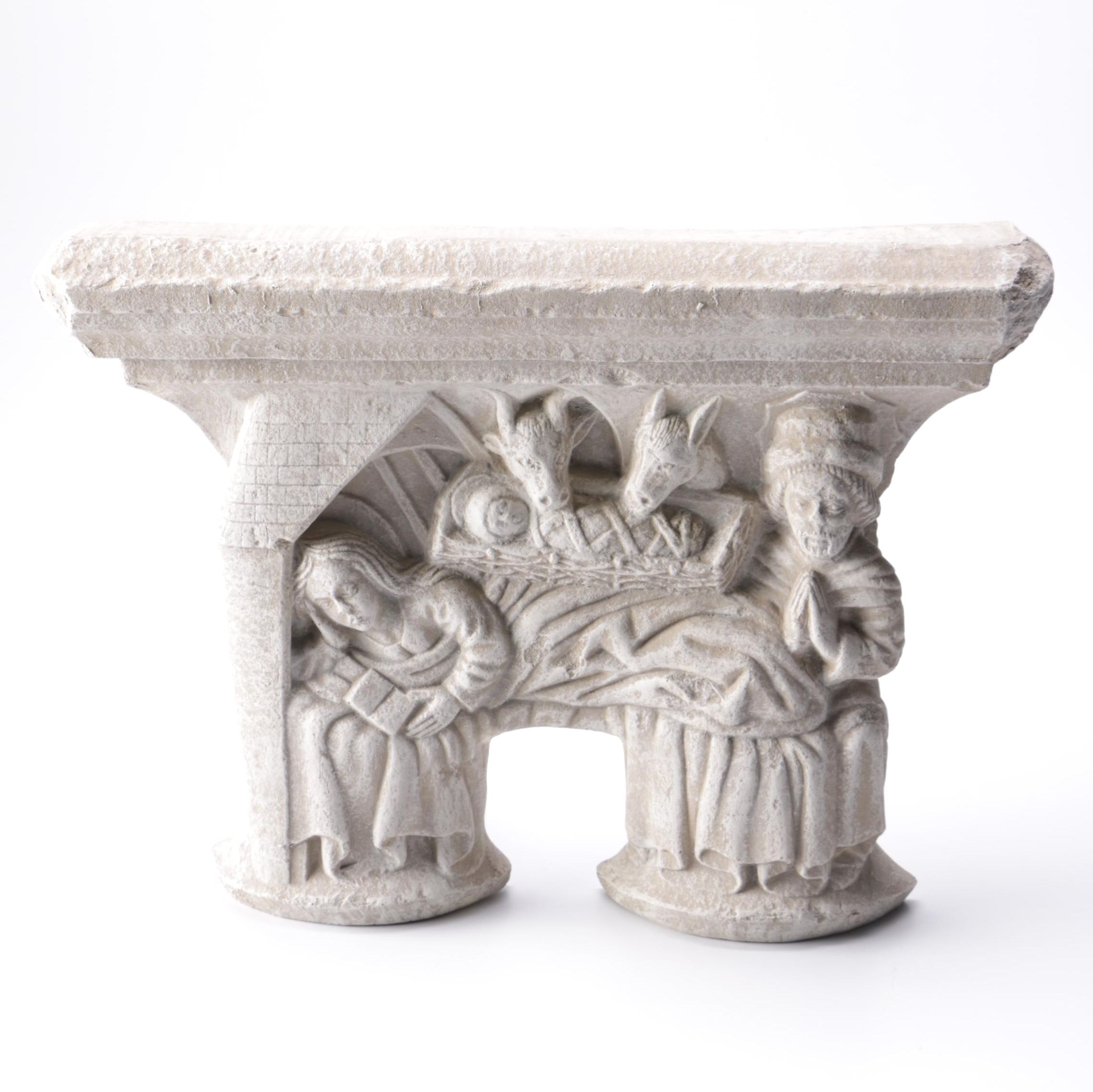 Plaster Reproduction of a Medieval Nativity Sculpture