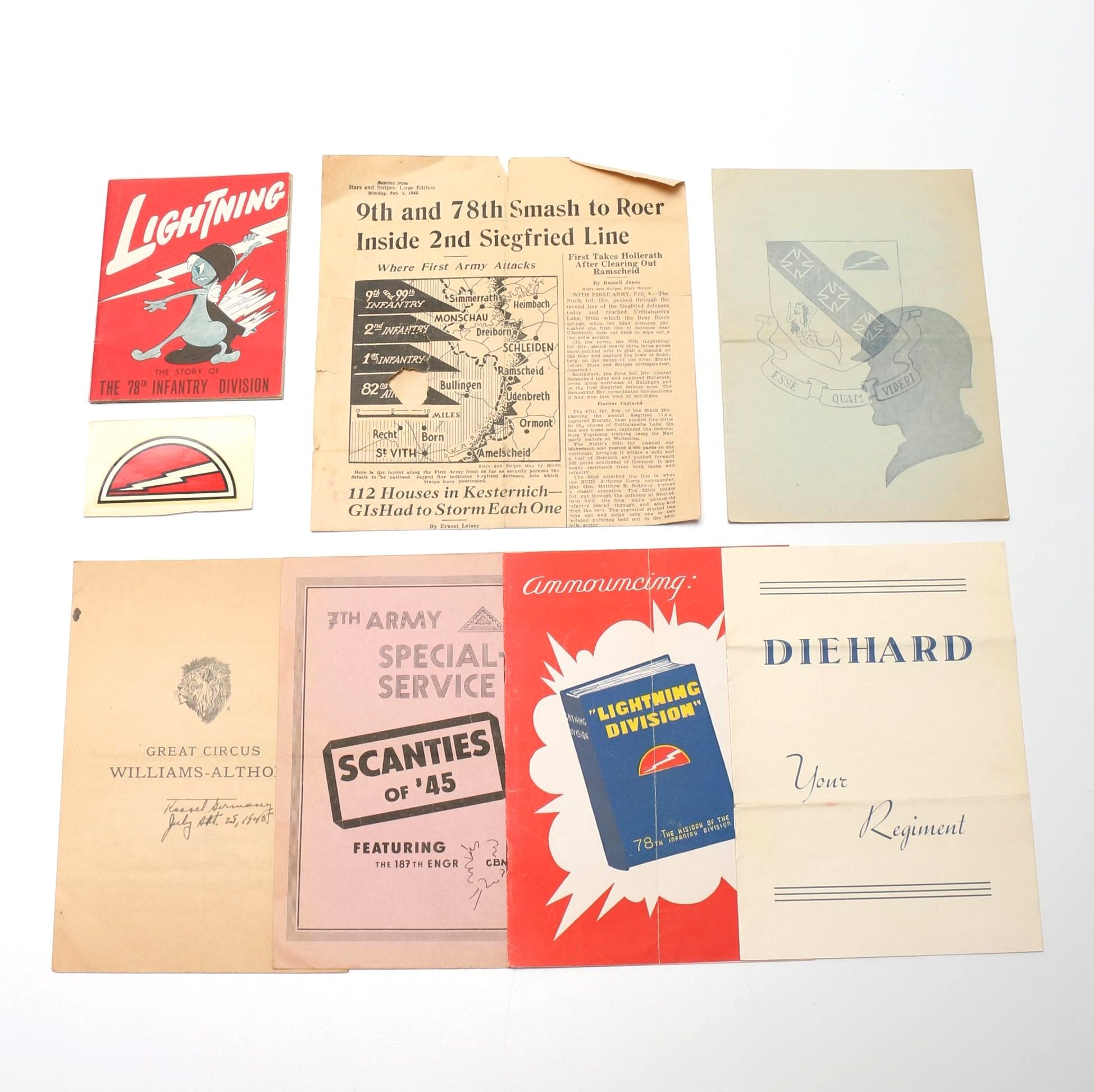 Circa 1945 World War II Literature