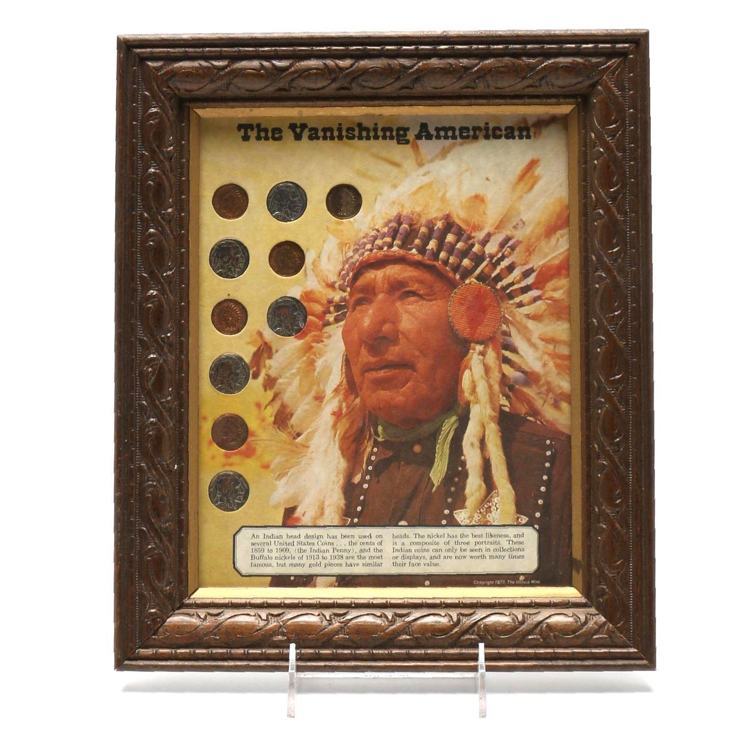 """""""The Vanishing American"""" Framed Coin Set"""