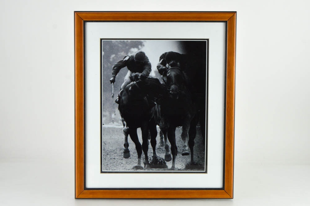"""Framed Bob Coglianese Black and White Photograph of """"The Savage"""""""