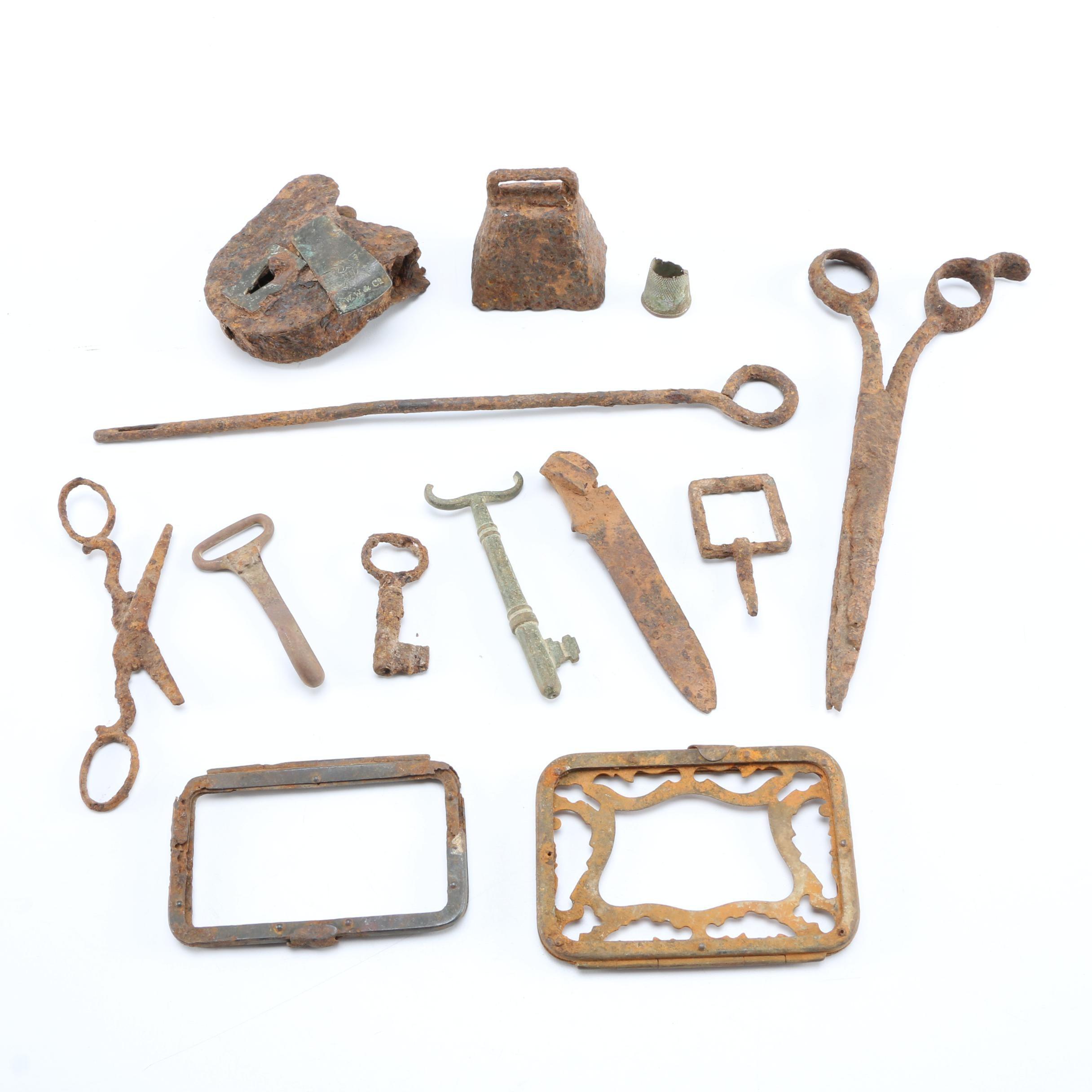 Group Of Civil War Era Artifacts