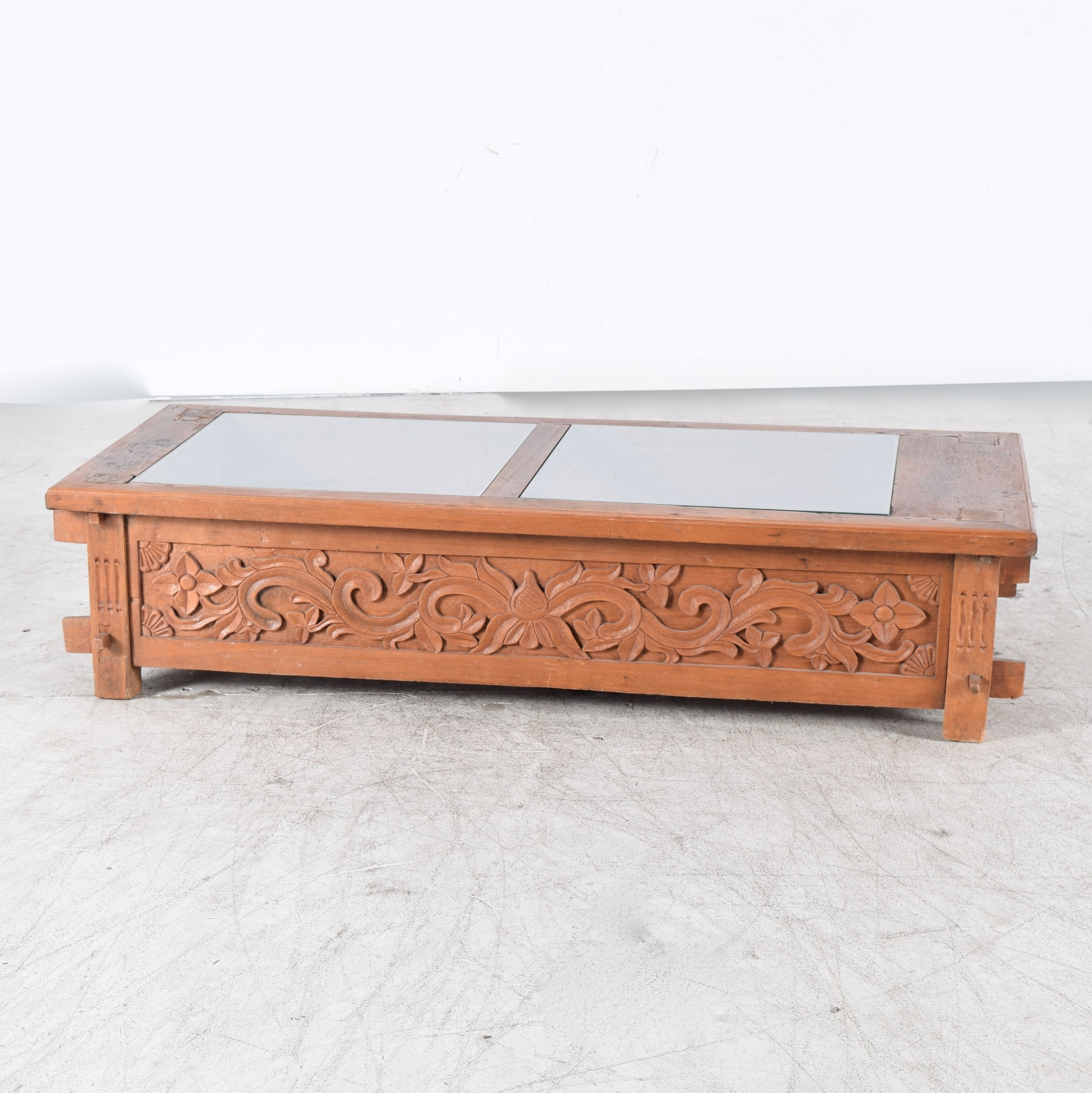 Exotic Indonesian Hand Carved Display Coffee Table ...