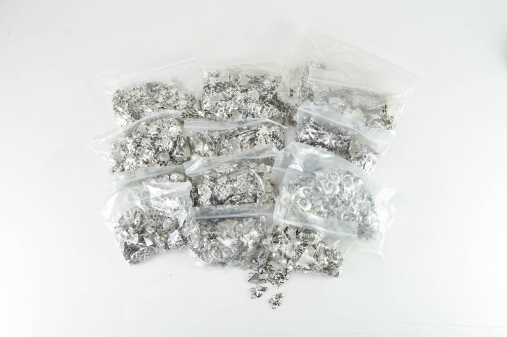 Large Assortment of Silver Toned Charms