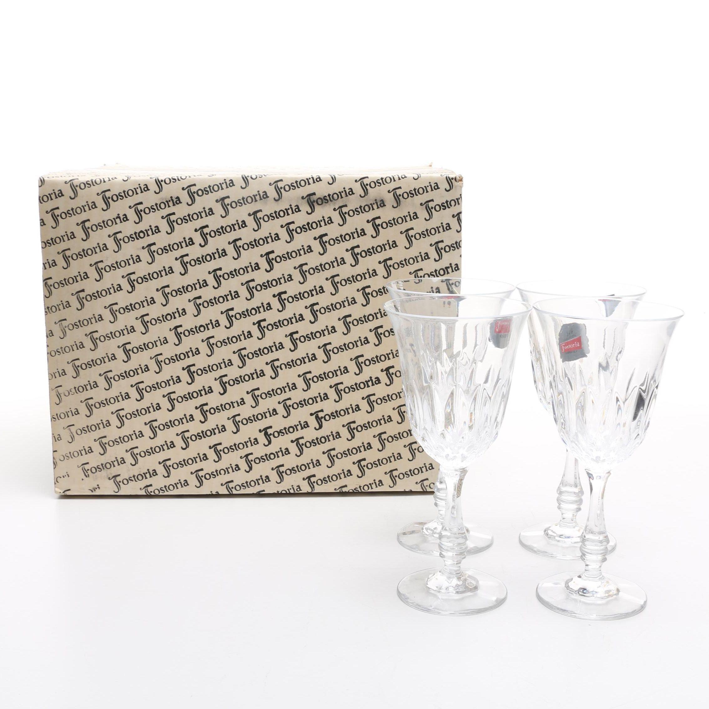 "Fostoria ""Kimberly"" Crystal Wine Glasses"