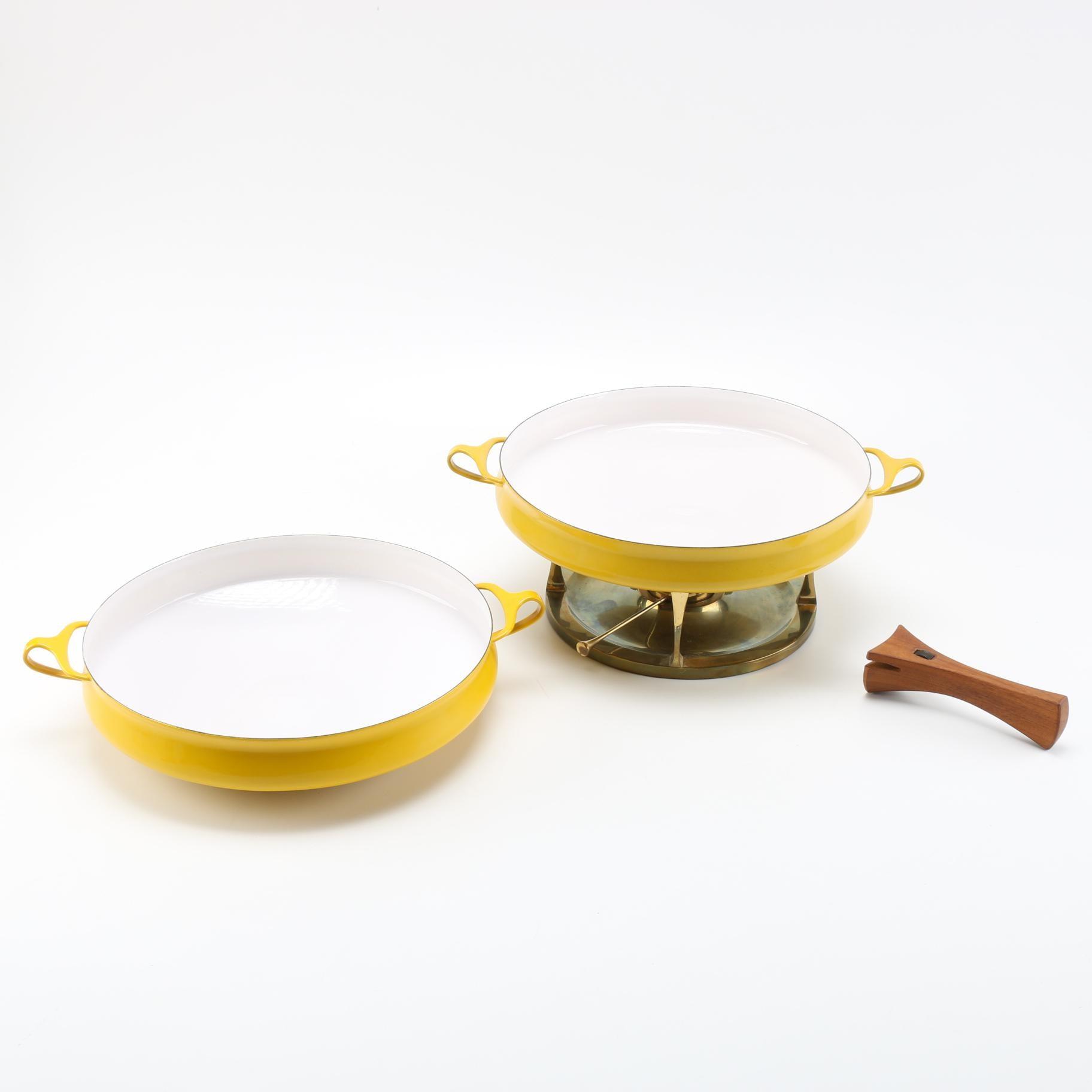 Dansk Kobenstyle Paella Pans With Burner and Teak Handle